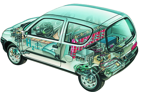 Nuvera Fuel Cell Stack technology demonstrated on FIAT new generation hydrogen cars