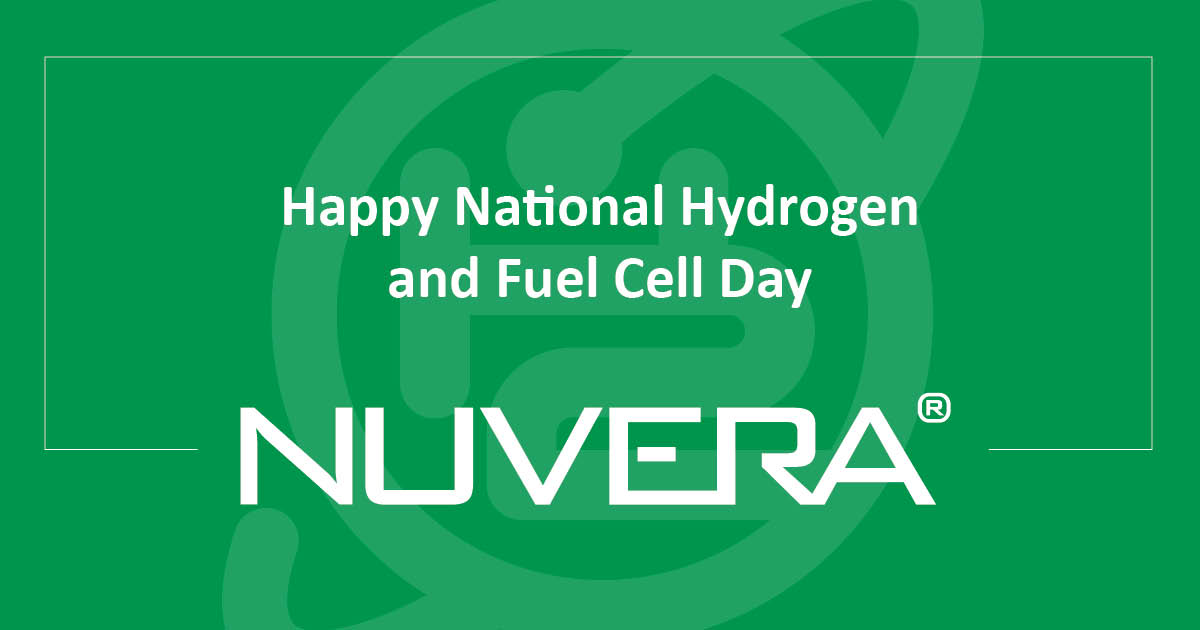 Nuvera Celebrates National Hydrogen and Fuel Cell Day 2021